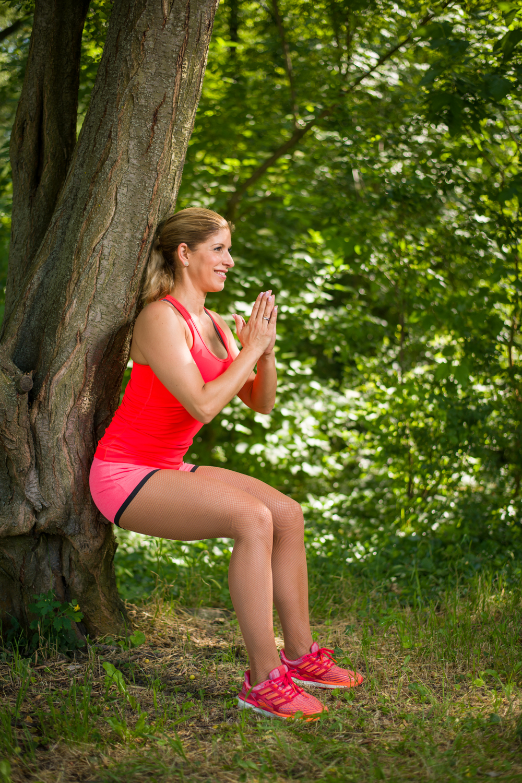edzés a szabadban guggolás